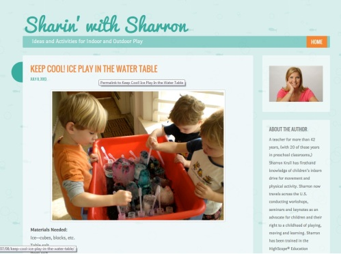sharron blog screen shot